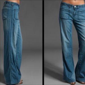 Free People wide leg denim jeans size 28